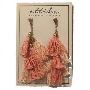 Ettika pink tassel earrings